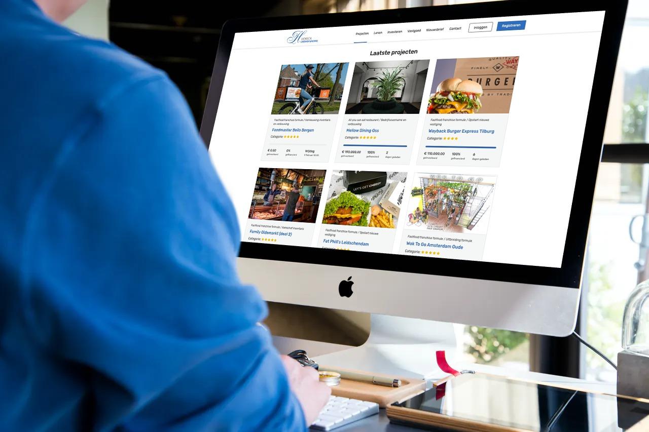 Horeca Crowdfunding webappliatie