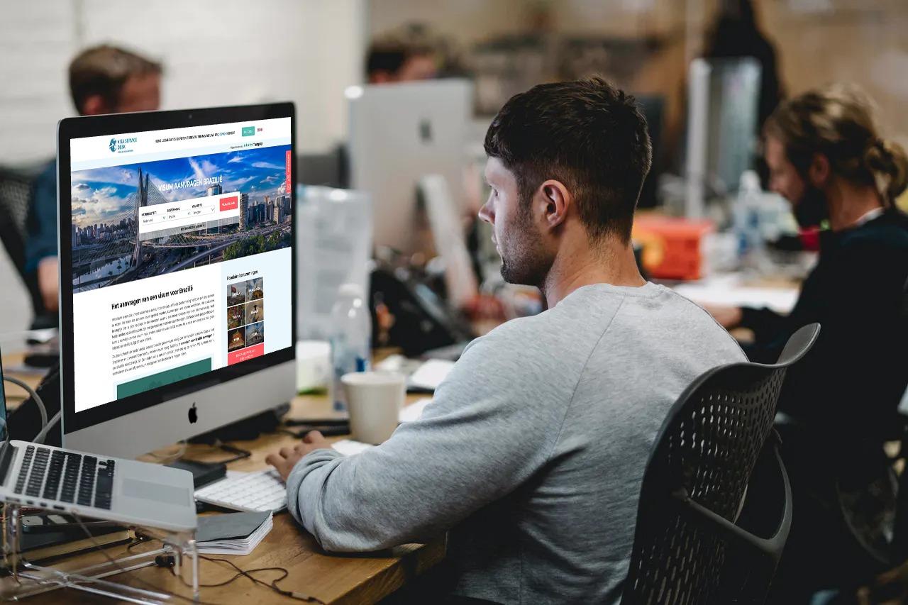 Visa Service Desk maatwerk webapplicatie en webshop
